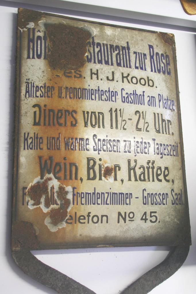 Emailleschild - Ladenburg - Bild 1